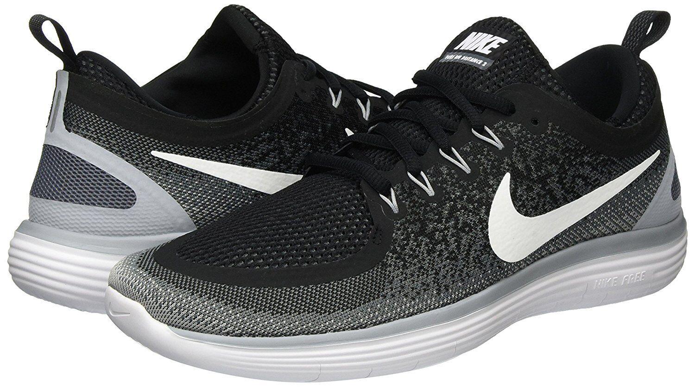 Men's 863775 Nike Free RN Distance 2 Running Shoes, 863775 Men's 001 Sizes 9-15 Black/Wht/Gre b3b0e1