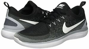 Nike Free RN Distance 2 Mens 863775-001 Black Grey Woven Running Shoes Size 7.5