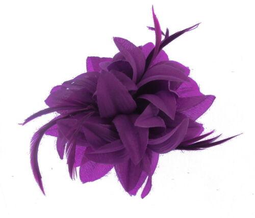 Purple fascinator clip for Ascot Races Ladies Day  SALE Weddings