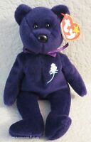 TY Beanie Baby Princess Bear 1997 RARE 1st Edition - PVC Pellets - No Space