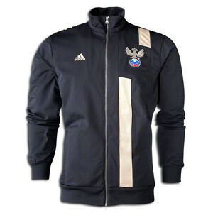 Details about adidas Womens Russia WC World Cup 2014 Soccer Anthem Jacket Black Gold