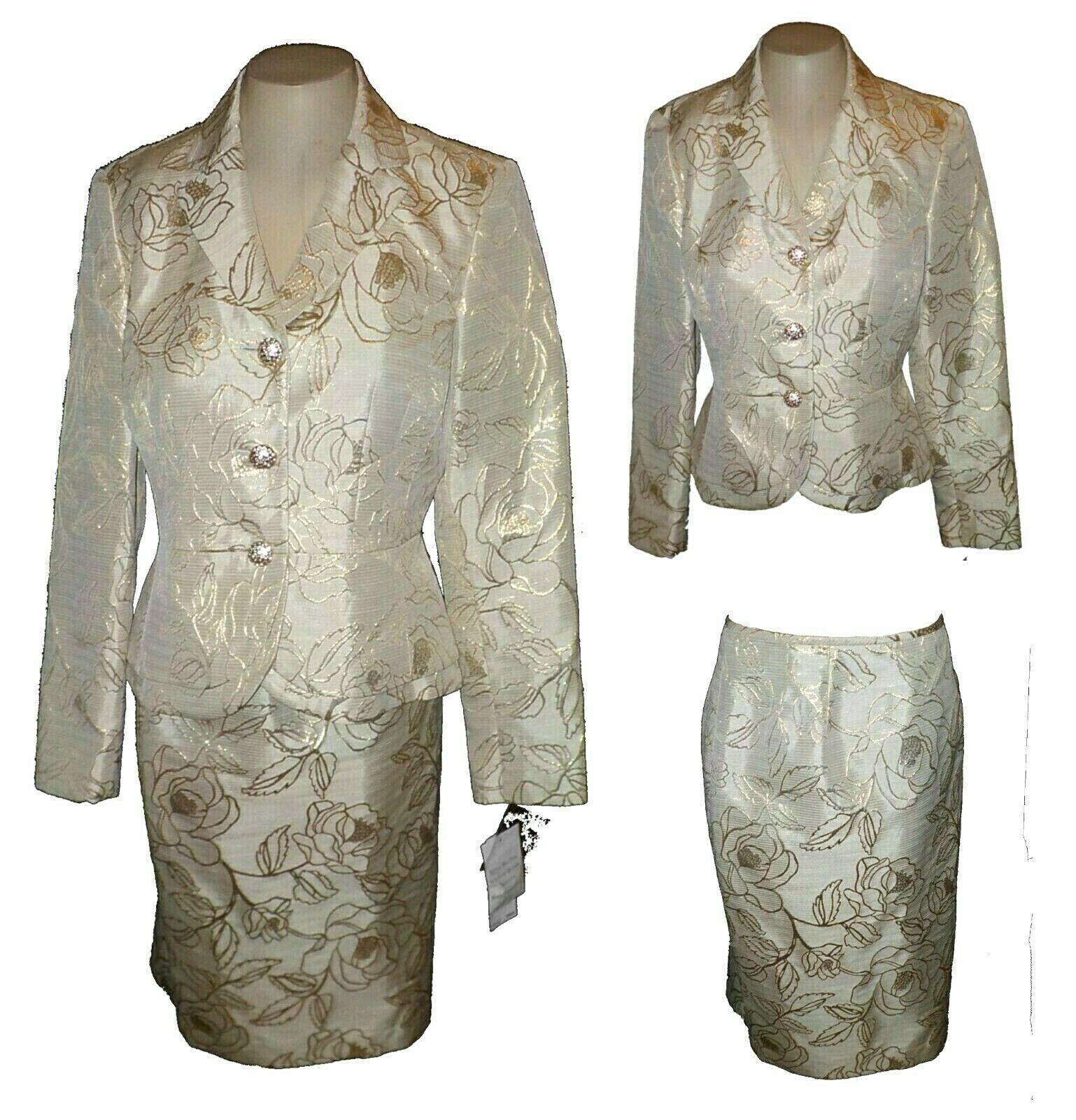 Traje 2PC   blazer y falda, Kasper noche brasileño Noches De oro-precio minorista sugerido por el fabricante  280.00 6  ofrecemos varias marcas famosas