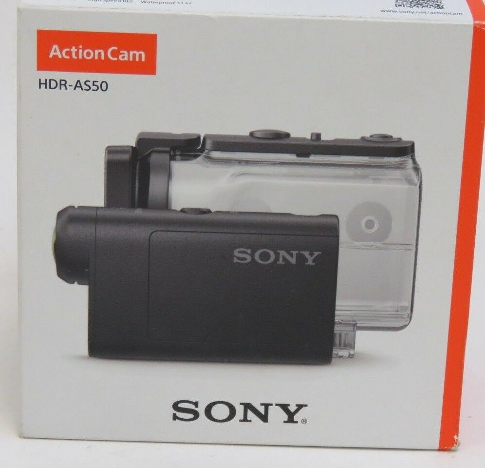 Sony Action Cam Camera HDR-AS50 Waterproof HD Flash Memory Camcorder - Black Featured
