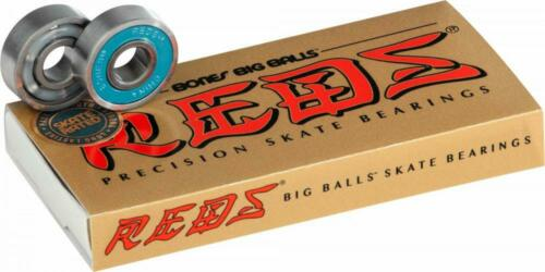 Skateboard Bearings Pack of 8 high speed bearings Bones Big Balls Reds