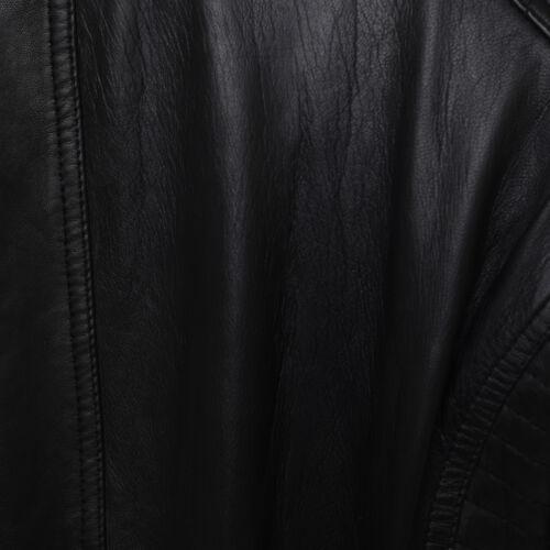 Femme Femmes Cuir Véritable Classique Veste de motard avec Cuir ceinture