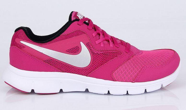 Nike Flex Experience Gr 35,5 hot Rosa metallic Silber Weiß blk 653698-601