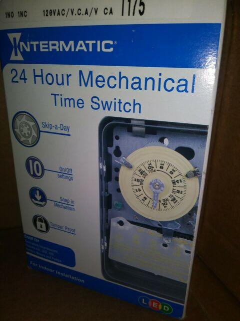 Intermatic T175 125 V 60 Hz 24 Hour Dial Time Switch W