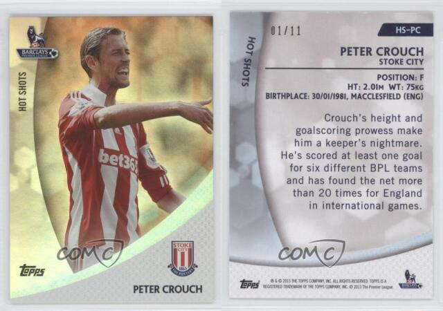 2013 Topps English Premier Gold Peter Crouch #75 Rookie
