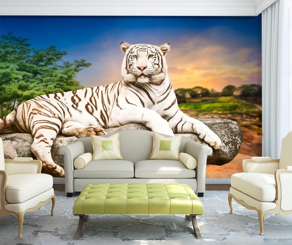 3D Dschungel Tiger Himmel 7803 Tapete Wandgemälde Tapeten Bild Bild Bild Familie DE Jenny | Der Schatz des Kindes, unser Glück  | Großer Verkauf  |  4e97f0