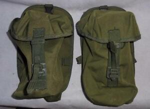 Pair-of-British-Military-Green-PLCE-Soldier-90-Utility-Pouch-Webbing