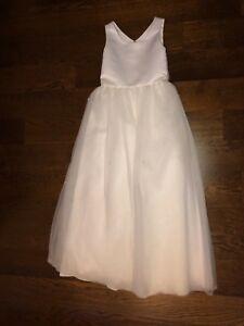 3560936dd David's Bridal Flower Girl Dress- White- H1108- size 10 417040014681 ...