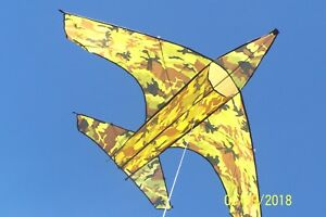 Camouflagued-Jet-Fighter-Kite-66-1-2-034-W-X-44-1-2-034-L-Gift-Air-Wind-Activity-Toy