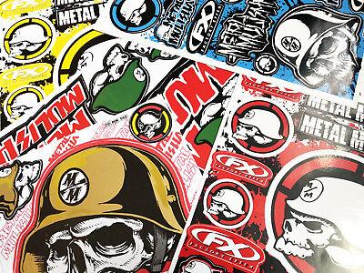 5 Metal Mulisha Sheets Stickers Motorcycle  ATV Racing Dirt Bike Helmet Decal