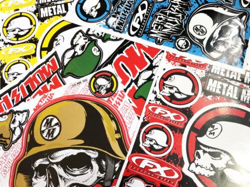 Mix Metal Mulisha Sticker Motocross Car ATV Racing Bike Helmet Decal Motorcycle