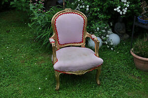 Antiker Kinder Sessel Lillifee Barock Stuhl Sessel Thron Ebay