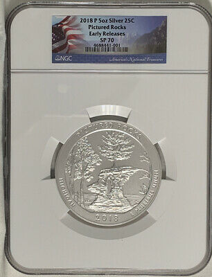 2014 P 5oz Silver 25C Shenandoah Early Releases NGC SP 70 perfect must see!