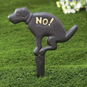 No-Pooping-Yard-Sign-Iron-Dog-Funny-Joke-Garden-Decor-Lawn-Grass-Stop-Poo-Signs