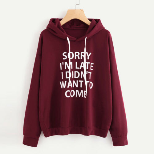 Womens Hoodie Sweatshirt Ladies Hooded Sweater Coat Jumper Pullover Top Tee 2018
