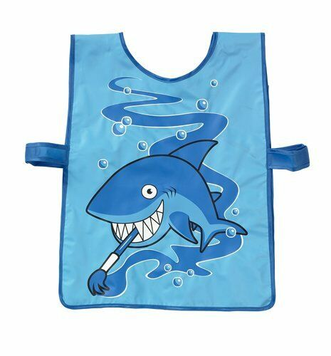 Childrens PVC Easy Clean Tabard Apron Painting Cooking Shark Ladybird Blue Red