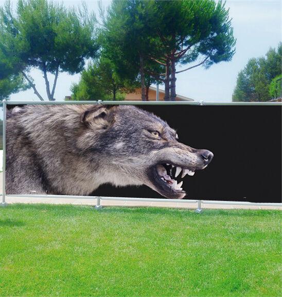 -schutz Ansicht Deko Personnalisiert Wolf- Ref 3672