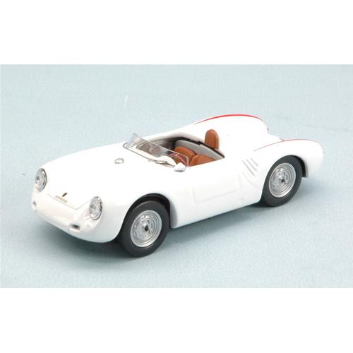 PORSCHE 550 RS 4 CIL.110 CV 1957 bianca  1:43 Best Model Auto Stradali Die Cast