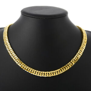 14K-Gold-Plated-Cuban-Curb-Link-Chain-Necklace-18-034-ITALY