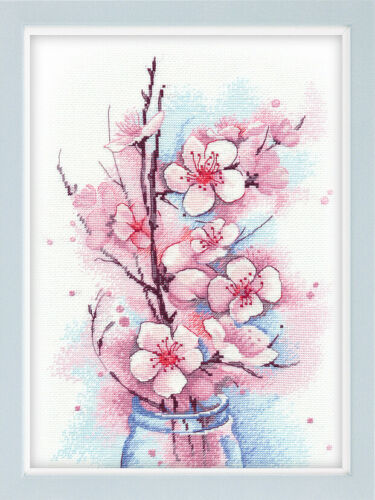 """Counted Cross Stitch Kit OVEN 1187 /""""Apple Blossom/"""""""