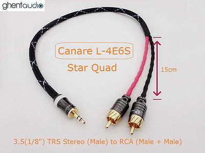 B01(0.3m 1ft)---3.5mm Jack (1/8')TRS(m) AUX Stereo to Dual 2 RCA(m) for ipod/mp3