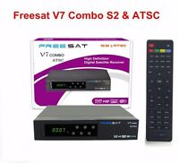 Dvb-s2 Atsc Freesat V7 Combo Satellite Tv Receiver Box 1080p Hd Antenna Usa 2017