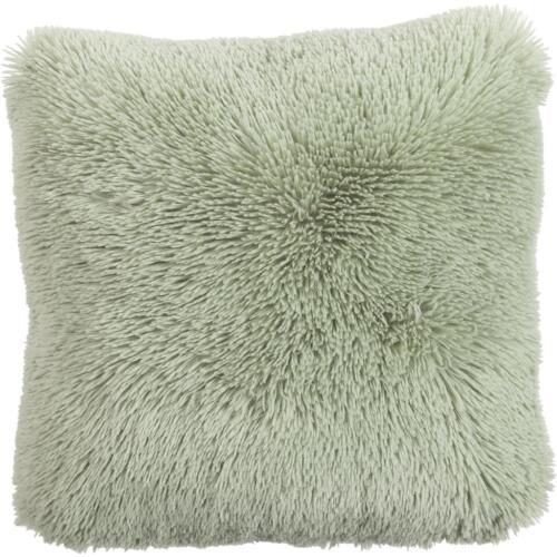 Zottel Kissen Dekokissen Flausch Bodrum frosty green 45x45cm