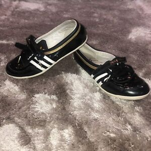 Details about Adidas Sleek Series Concord Ballerina Black Gold Trainer Shoes 6.5 104521832