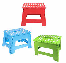 Home Folding Step Stool For Adults - 12  Heavy Duty Plastic Stool  sc 1 st  eBay & Portable Step Stool Folding Black Plastic Heavy Duty Kids Adults ... islam-shia.org