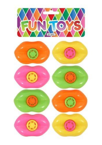 Neon Sifflet Lèvres Pour Enfants Fête Loot Sacs Pinata Comblement Kids Party Favour