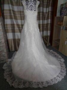 (B12)Edles Damen Braut Standesamt Abend Kleid GR: GR: 40 ...
