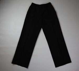 ce2eceef Details about Brooks Brothers Women Petite Career Pants Stretch Ladies  Black Wool Slacks Sz 4