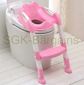 Combinaisons-Culottes Kids Bébé Enfant Toddler Potty Loo Entraînement Toilette Siège & Step Ladder Rose  </span>