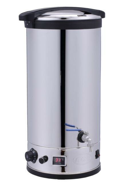 NEW BEER MASH TUN 2h TIMER 30L Boiler double wall with BOTTOM FILTER + HOPS BAG