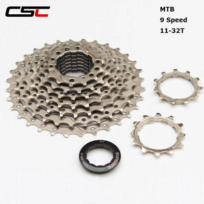 Cassettes, Freewheels & Cogs Confident Cassette 9 Speed 11-32t Wide Ratio Mountain Bike Sprocket For Sh1man0 Groupset Harmonious Colors
