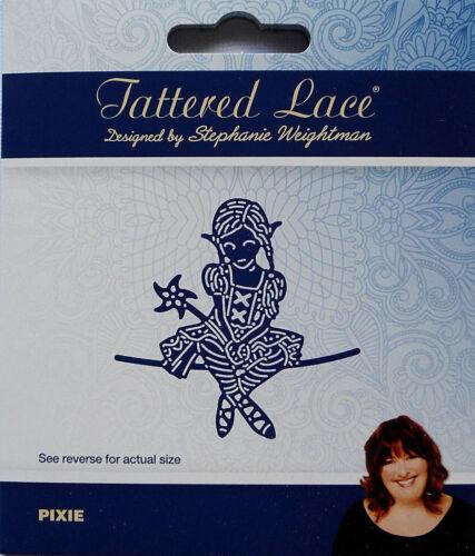 438297 Tattered Lace Dies PIXIE Elf Girl Metal Cutting Die