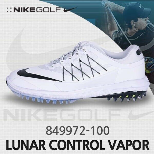 Nike Lunar Control Vapor Men's Golf Shoes White Black 849972-100 Wide Type Sz 9 Cheap women's shoes women's shoes