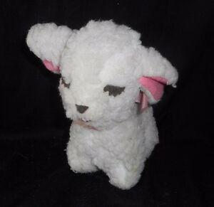 6 Vintage Mary Meyer Baby White Lamb Sheep Stuffed Animal Plush Toy