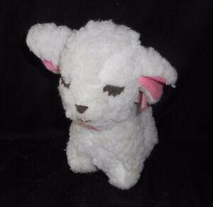 "6"" VINTAGE MARY MEYER BABY WHITE LAMB SHEEP STUFFED ANIMAL PLUSH TOY SMALL OLD"