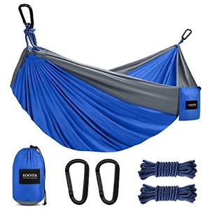 Kootek Camping Hammock Double & Single Portable Hammocks with 2 Hanging Ropes, &