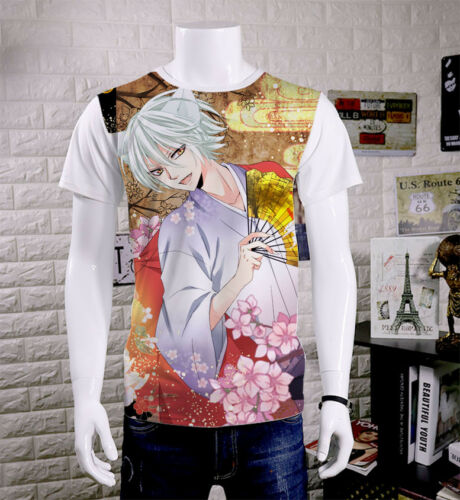 Kamisama Kiss Tomoe/&Momozono Nanam Unisex T-shirt Short Sleeve White TEE#M-T317