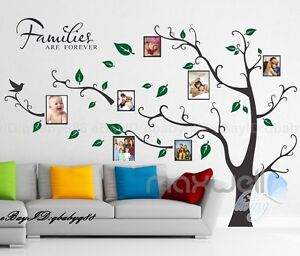 Family Tree Decor For Wall family picture photo frame tree wall quote art stickers vinyl
