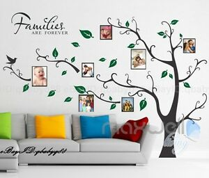 Family Tree Wall Decor family picture photo frame tree wall quote art stickers vinyl