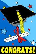 "2'x3' GRADUATION GARDEN FLAG BANNER PARTY HIGH SCHOOL COLLEGE MBA 24""x36"" 2X3"
