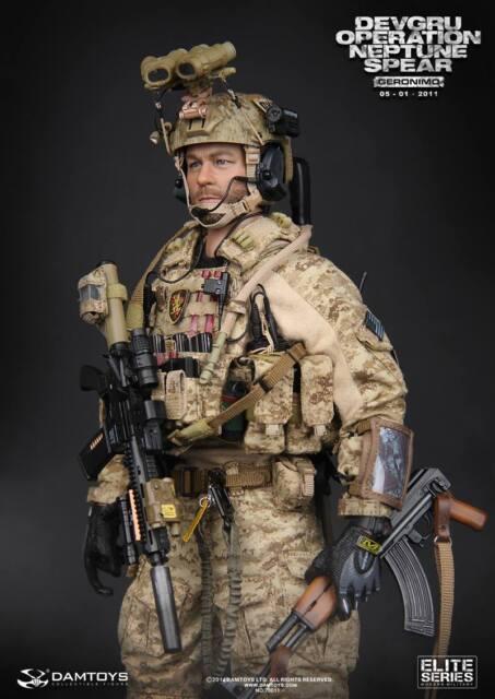 "DAM 1/6 Scale 12"" Elite Series DEVGRU Operation Neptune Spear Geronimo 78011"