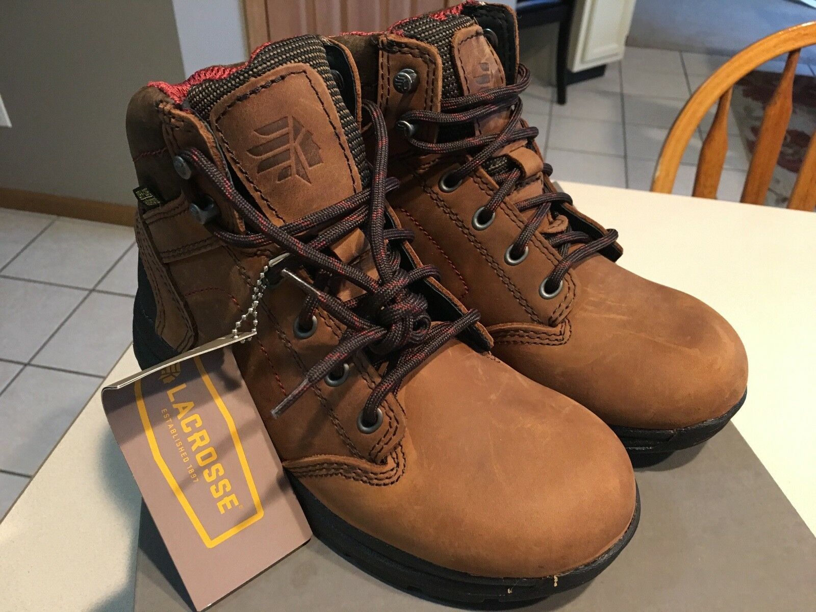 LACROSSE Women's  Laurelwood 5  Dry-Gore Brown Leather Boots size 5.5