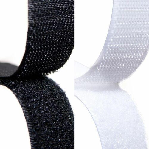 À Coudre Fermeture Scratch 20mm Largeur Noir ou Blanc sur Un Rouleau Par Mètre